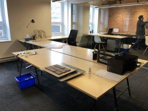 Lot de mobilier de bureau